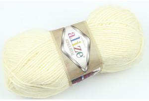 Пряжа Alize Alpaca Royal, #01, кремовая