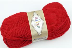Пряжа Alize Alpaca Royal, #56, красная