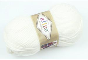 Пряжа Alize Alpaca Royal, #55, белая
