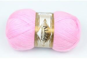 Пряжа Alize Angora Gold, #185, розовая