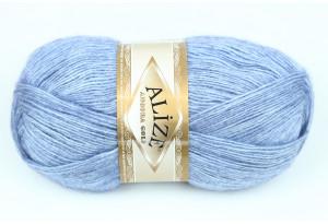 Пряжа Alize Angora Gold, #221, голубой меланж