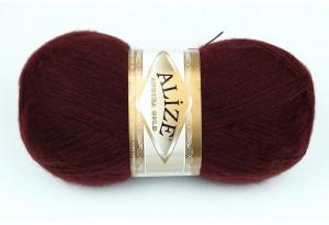 Пряжа Alize Angora Gold, #634, вишневая