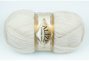 Пряжа Alize Angora Gold, #599, кремово-серая