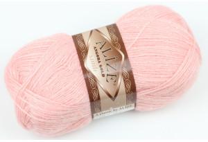 Пряжа Alize Angora Gold Simli, #363, розово-персиковая