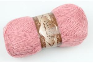 Пряжа Alize Angora Gold Simli, #144, пастельно-розовая