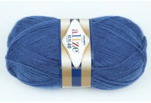 Пряжа Alize Angora Real 40, #279, темно-синий
