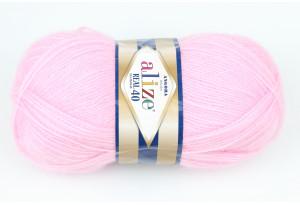 Пряжа Alize Angora Real 40, #185, розовая