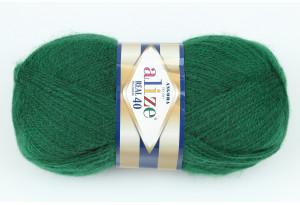 Пряжа Alize Angora Real 40, #563, темно-зеленая