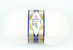 Пряжа Alize Angora Real 40, #55, белая