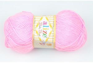 Пряжа Alize Baby Best, #191, розовая