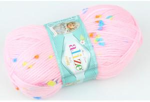Пряжа Alize Baby Flower, #5381, розовая