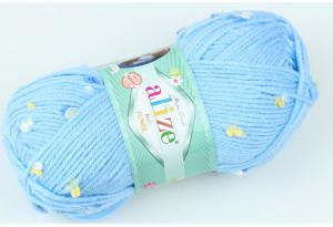 Пряжа Alize Baby Flower, #5435, темно-голубая