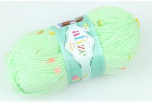 Пряжа Alize Baby Flower, #5411, светло-салатовая