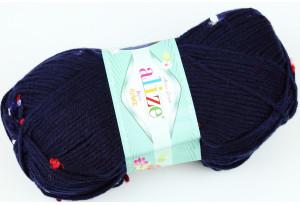 Пряжа Alize Baby Flower, #5426, сапфировая
