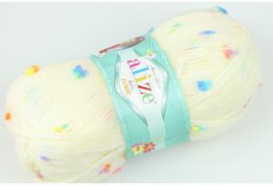 Пряжа Alize Baby Flower, #5383, кремовая