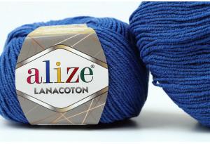 Пряжа Alize LanaCoton, #279, синяя