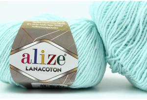 Пряжа Alize LanaCoton, #522, небесно-голубая