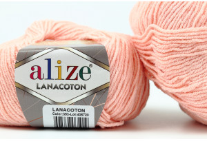 Пряжа Alize LanaCoton, #393, розово-персиковая