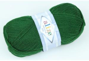 Пряжа Alize LanaGold 800, #118, темно-зеленая