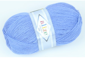Пряжа Alize LanaGold 800, #40, голубая