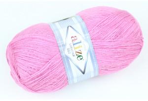 Пряжа Alize LanaGold 800, #98, розовая