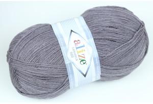 Пряжа Alize LanaGold 800, #348, темно-серый