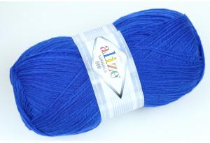 Пряжа Alize LanaGold 800, #141, синяя