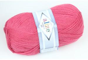 Пряжа Alize LanaGold 800, #359, темно-розовая