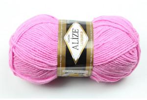 Пряжа Alize LanaGold, #98, темно-розовая