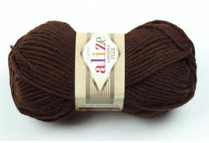 Пряжа Alize LanaGold Plus, #26, шоколадная