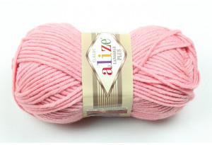 Пряжа Alize LanaGold Plus, #161, пастельно-розовая