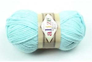 Пряжа Alize LanaGold Plus, #522, небесно-голубая