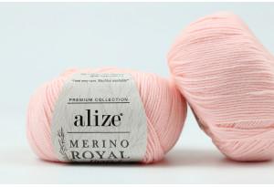 Пряжа Alize Merino Royal Fine, #31, нежно-розовая