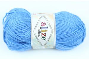 Пряжа Alize My Baby, #282, темно-голубая