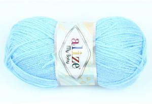 Пряжа Alize My Baby, #40, голубая