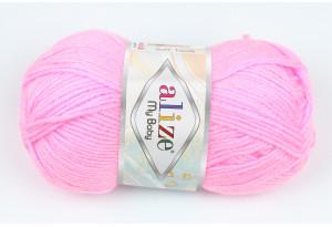 Пряжа Alize My Baby, #191, темно-розовая
