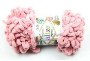 Пряжа Alize Puffy, #161, пастельно-розовая