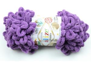 Пряжа Alize Puffy, #437, фиолетовая