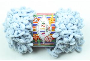 Пряжа Alize Puffy Fine, #522, голубой