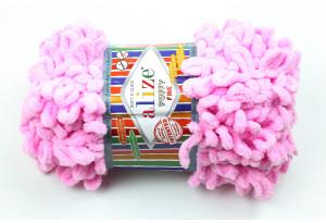 Пряжа Alize Puffy Fine, #725, розовая