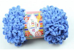 Пряжа Alize Puffy Fine, #237, светло-синяя