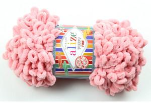 Пряжа Alize Puffy Fine, #161, пастельно-розовая