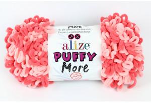 Пряжа Alize Puffy More, #6275, розовая