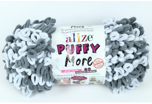 Пряжа Alize Puffy More, #6265, серая