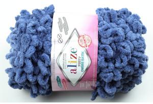 Пряжа Alize Puffy Ombre Batik, #7425, синяя