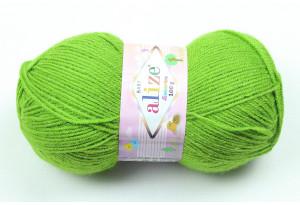 Пряжа Alize Sekerim Baby, #210, оливковая