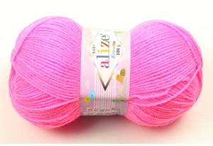 Пряжа Alize Sekerim Baby, #170, ярко-розовая