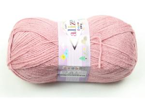 Пряжа Alize Sekerim Baby, #315, пастельно-розовая