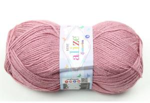 Пряжа Alize Sekerim Baby, #624, розово-коричневая