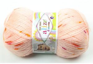 Пряжа Alize Sekerim Mini Colors, #4773, персиковая